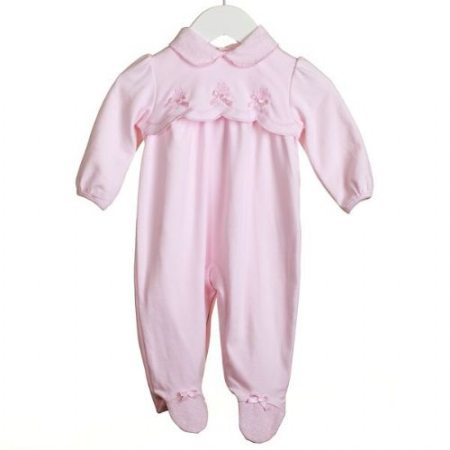 Pink Collared Sleeper with Satin Bows